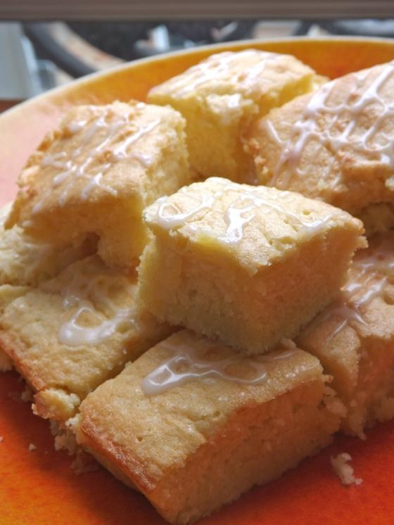 Lemon Poundcake Squares