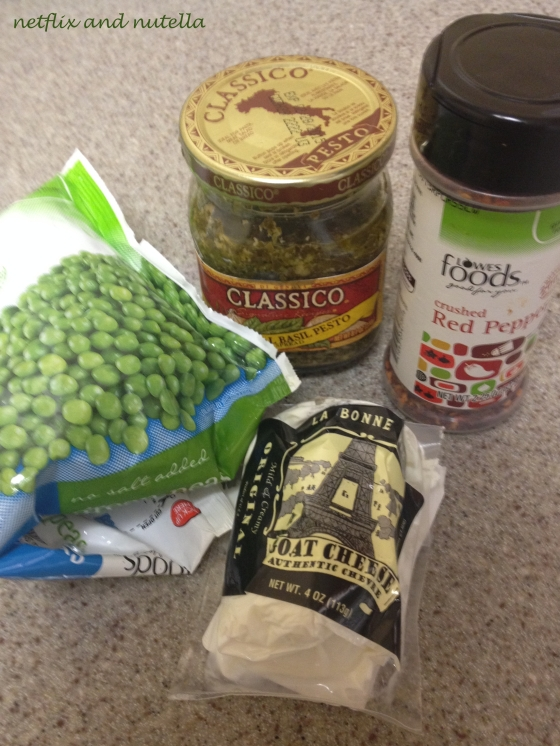 Pesto, Goat Cheese, and Pea Pasta 2 | Netflix and Nutella