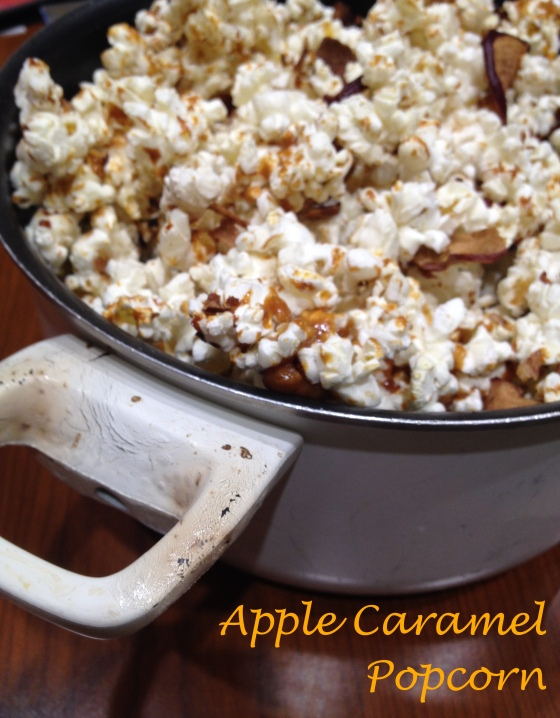 Apple Caramel Popcorn | Netflix & Nutella