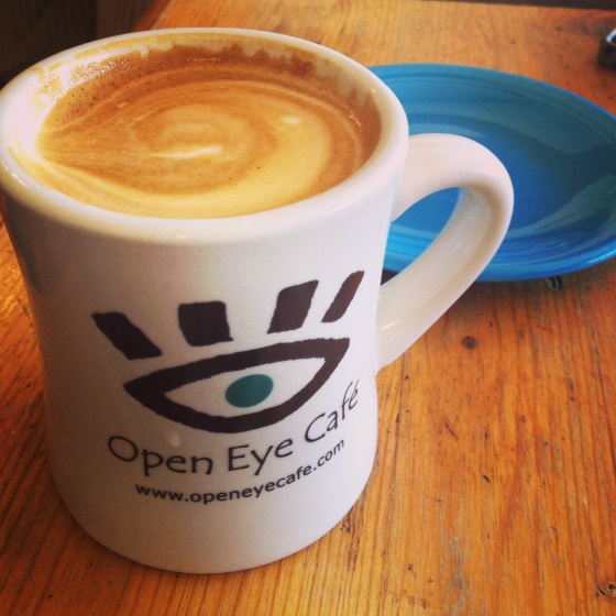 Latte at Open Eye Cafe