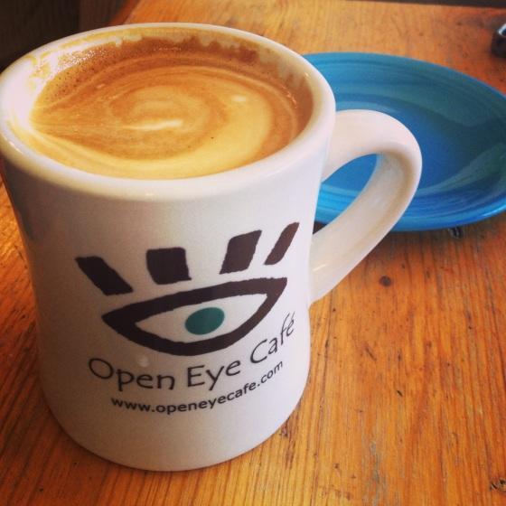 Latte at Open Eye Cafe