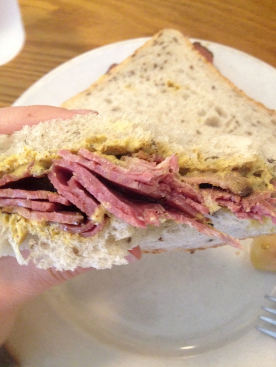Pastrami on rye at Neal's Deli