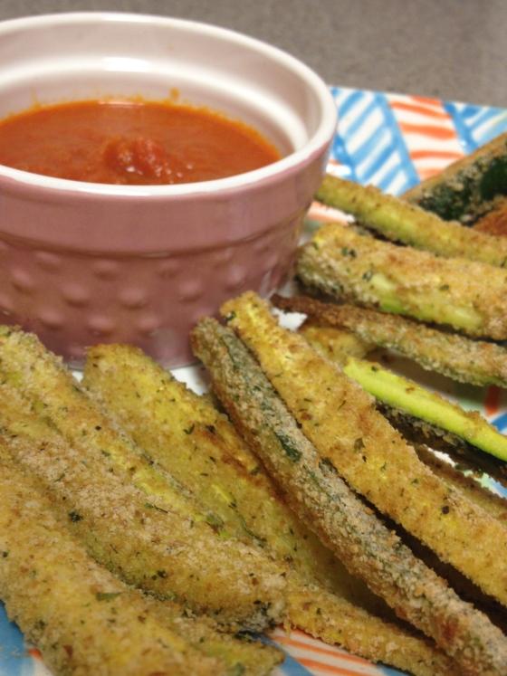 Baked Zucchini Fries | netflix & nutella