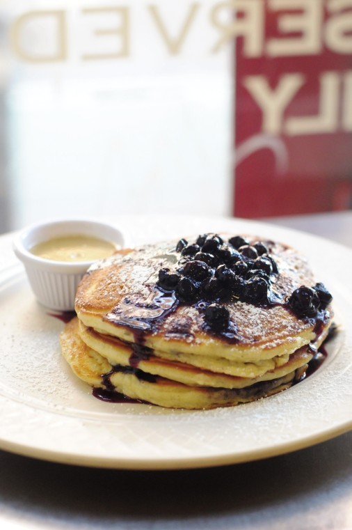 Blueberry pancakes from Clinton baki