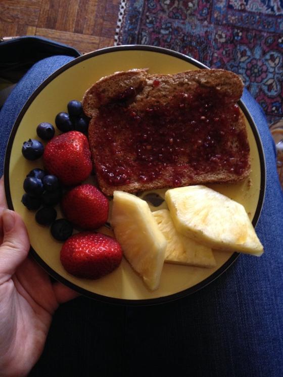 Perfect breakfast of fresh jam and fruit | netflix & nutella