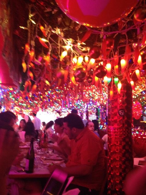 A festive Indian restaurant